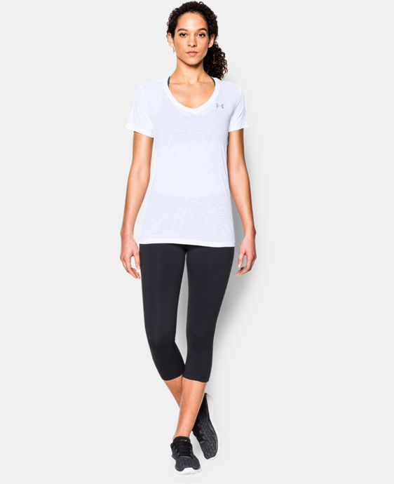 Women's UA Tech™ Slub V-Neck LIMITED TIME: FREE SHIPPING 1 Color $15.74