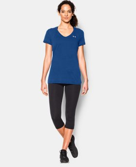 Women's UA Tech™ Slub V-Neck  10 Colors $27.99