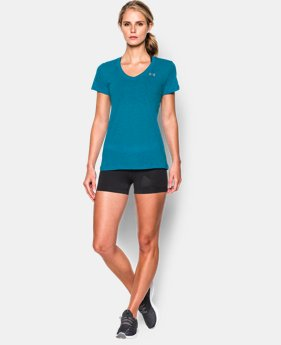Women's UA Tech™ Slub V-Neck LIMITED TIME: FREE SHIPPING 6 Colors $32.99