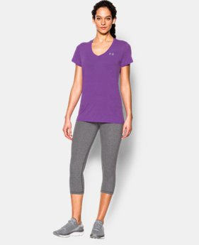 Women's UA Tech™ Slub V-Neck LIMITED TIME: FREE SHIPPING 1 Color $32.99