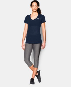 Women's UA Tech™ Slub V-Neck  1 Color $27.99