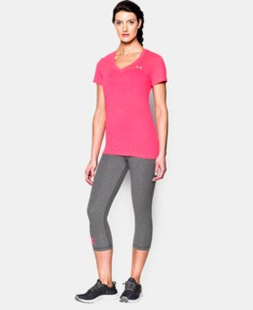 Women's UA Tech™ Slub V-Neck  1 Color $32.99