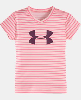 Girls' Infant UA Mini Stripe Big Logo T-Shirt