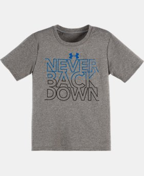Boys' Pre-School UA Never Back Down T-Shirt