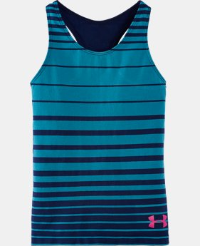 Girls' Pre-School UA Seamless Yarn-Dye Tank