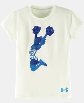 Girls' Toddler UA Cheer Loud Short Sleeve