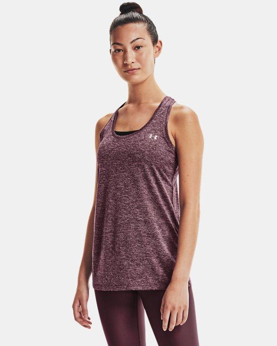 Women's UA Tech™ Twist Tank, Purple, pdpMainDesktop image number 0