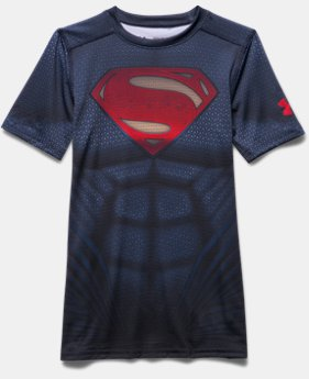 Boys' Under Armour® Alter Ego Superman HeatGear® T-Shirt