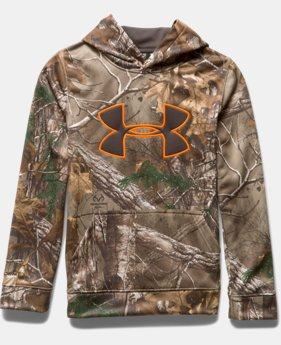 Boys' UA Armour® Fleece Camo Big Logo Hoodie