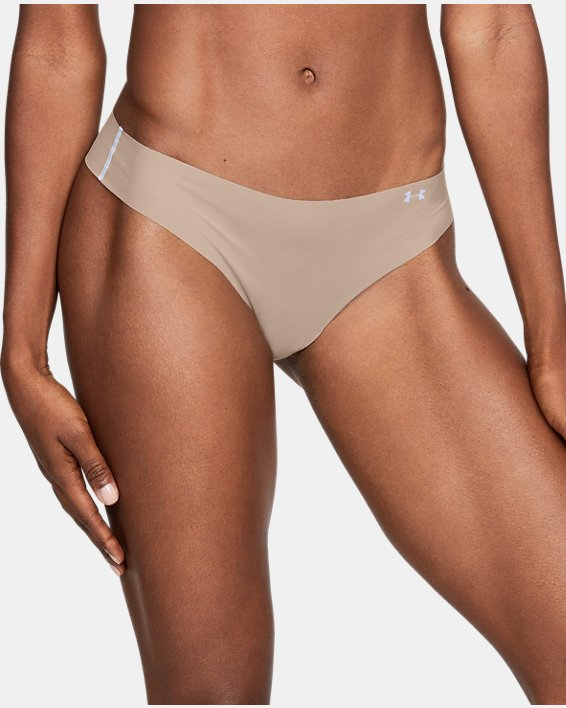 Women's UA Pure Stretch Thong, Brown, pdpMainDesktop image number 2