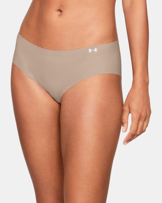 Women's UA Pure Stretch Hipster, Brown, pdpMainDesktop image number 3