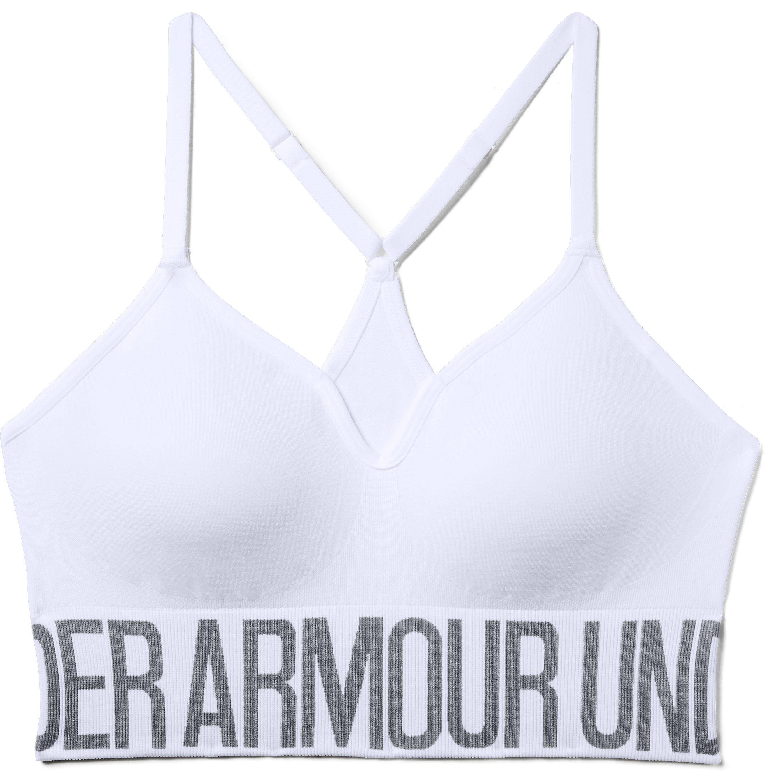 Women's Armour® Seamless Sports Bra, White,