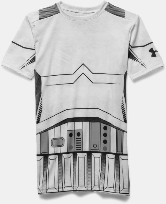 New Arrival  Boys' Star Wars Storm Trooper UA Compression Shirt  1 Color $44.99