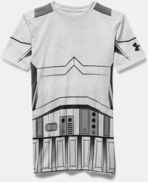 New Arrival  Boys' Star Wars Storm Trooper UA Compression Shirt   $44.99
