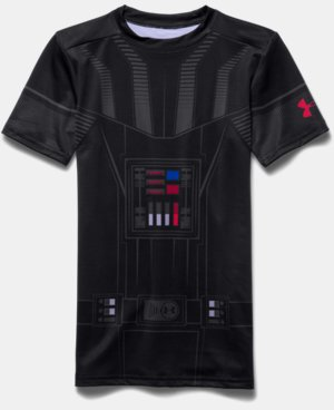 New Arrival  Boys' Star Wars Darth Vader UA Compression Shirt LIMITED TIME: FREE SHIPPING 1 Color $44.99