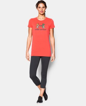 Women's UA Charged Cotton Tri-Blend Camo Logo T-Shirt  1 Color $14.24