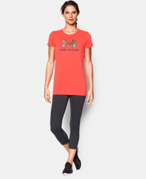 Women's UA Charged Cotton® Tri-Blend Camo Logo T-Shirt  2 Colors $14.24