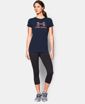 Women's UA Charged Cotton® Tri-Blend Camo Logo T-Shirt