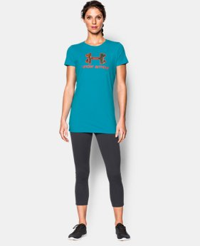 Women's UA Charged Cotton® Tri-Blend Camo Logo T-Shirt  1 Color $18.99