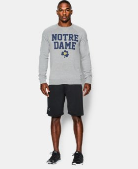 Men's Notre Dame UA Iconic Fleece Crew