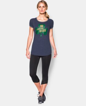 Women's UA Charged Cotton® Tri-Blend 2015 Notre Dame Iconic 6 T-Shirt  1 Color $29.99