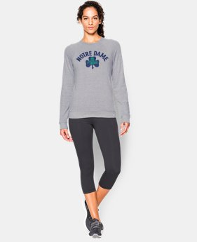 New to Outlet Women's 2015 Notre Dame Iconic 6 Crew  1 Color $56.99