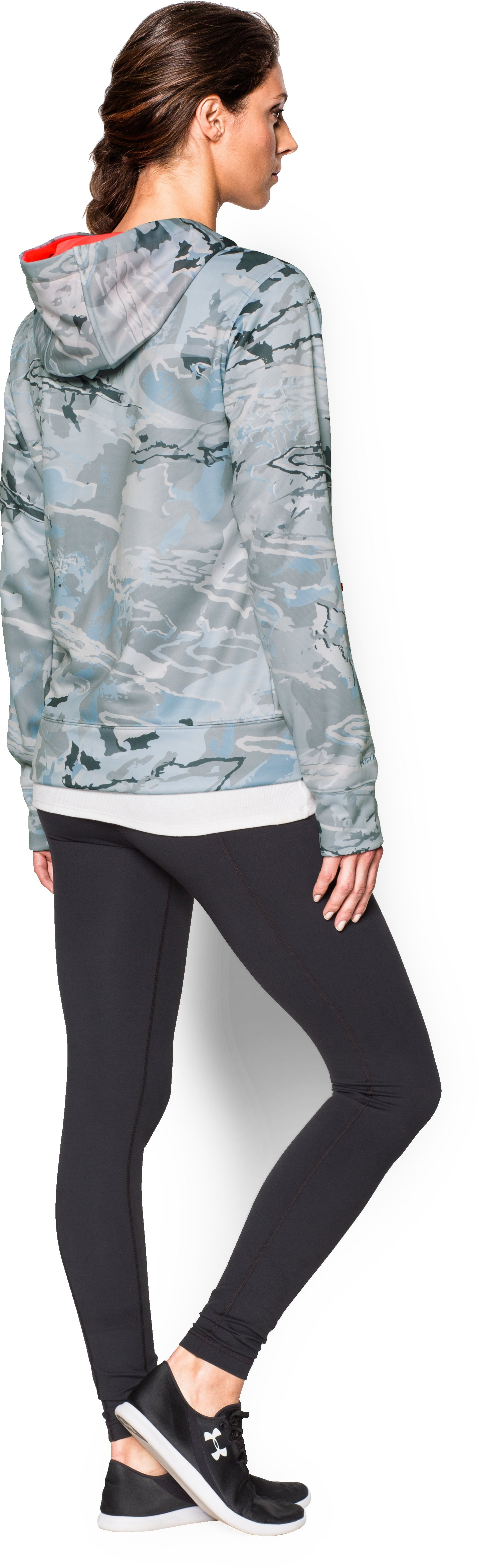 Women's UA Armour® Fleece Camo Big Logo Hoodie, RIDGE REAPER® HYDRO, Back