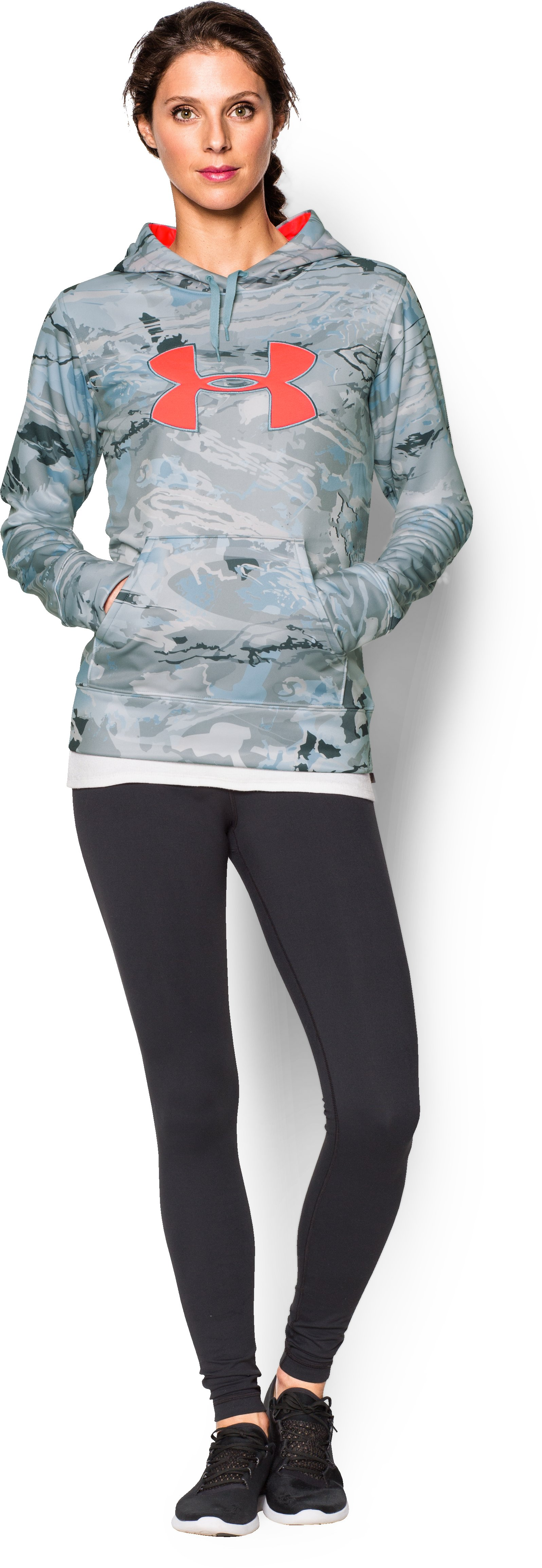 Women's UA Armour® Fleece Camo Big Logo Hoodie, RIDGE REAPER® HYDRO, zoomed image