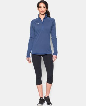 Women's UA Tech™ Microstripe ¼ Zip LIMITED TIME: FREE SHIPPING 1 Color $44.99