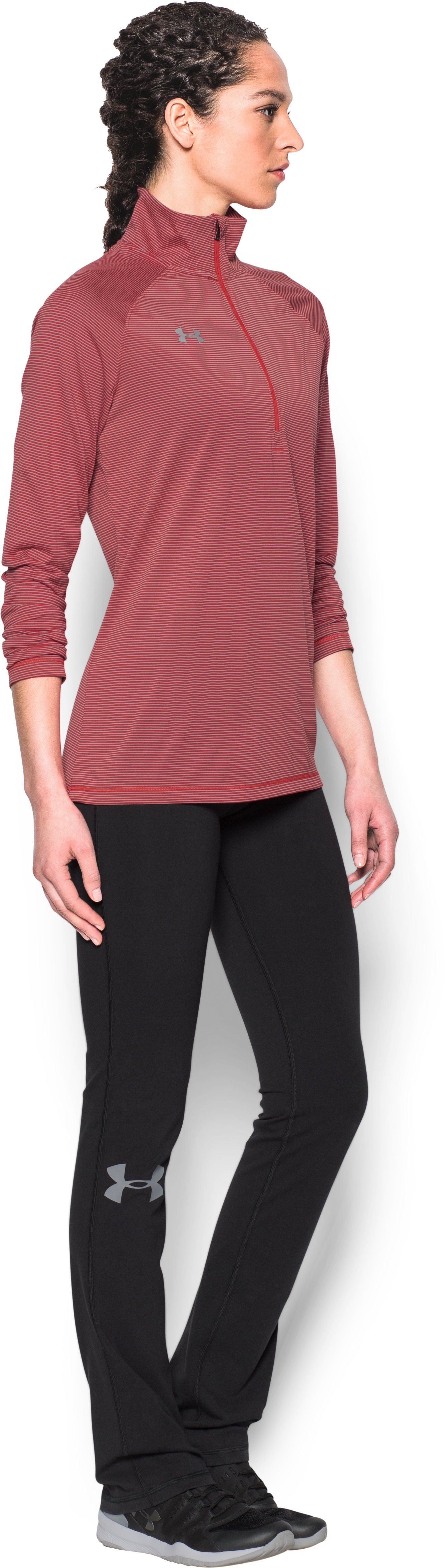 Women's UA Tech™ Microstripe ¼ Zip, Red,