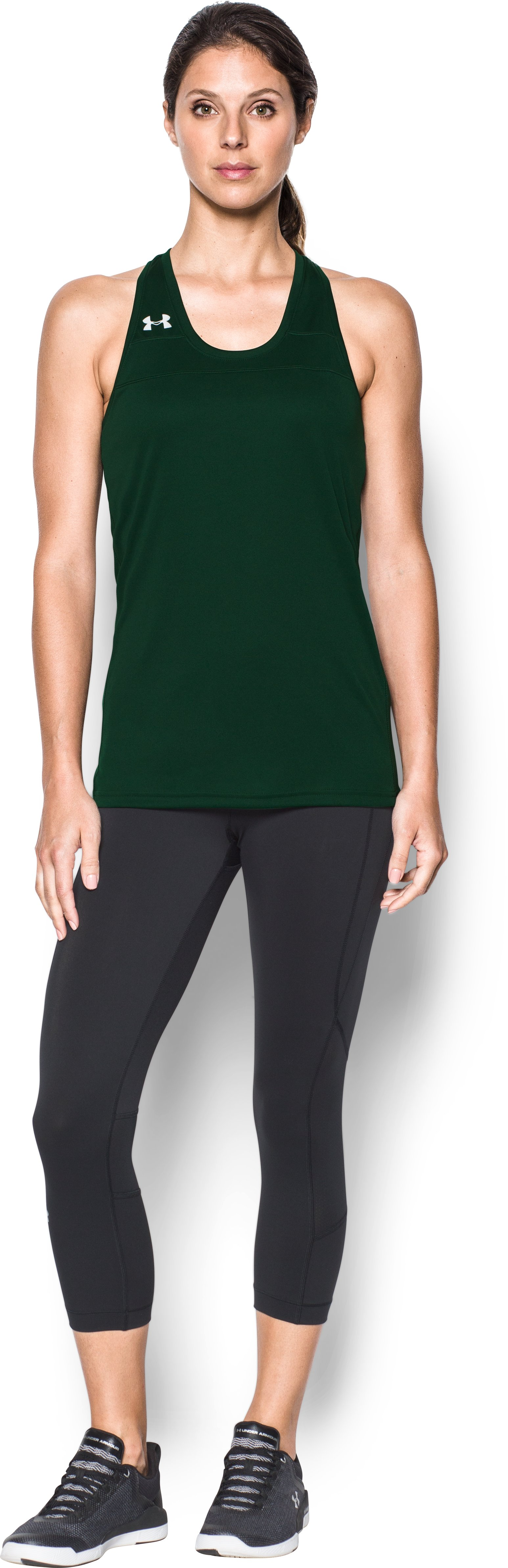 Women's UA Matchup Tank, Forest Green