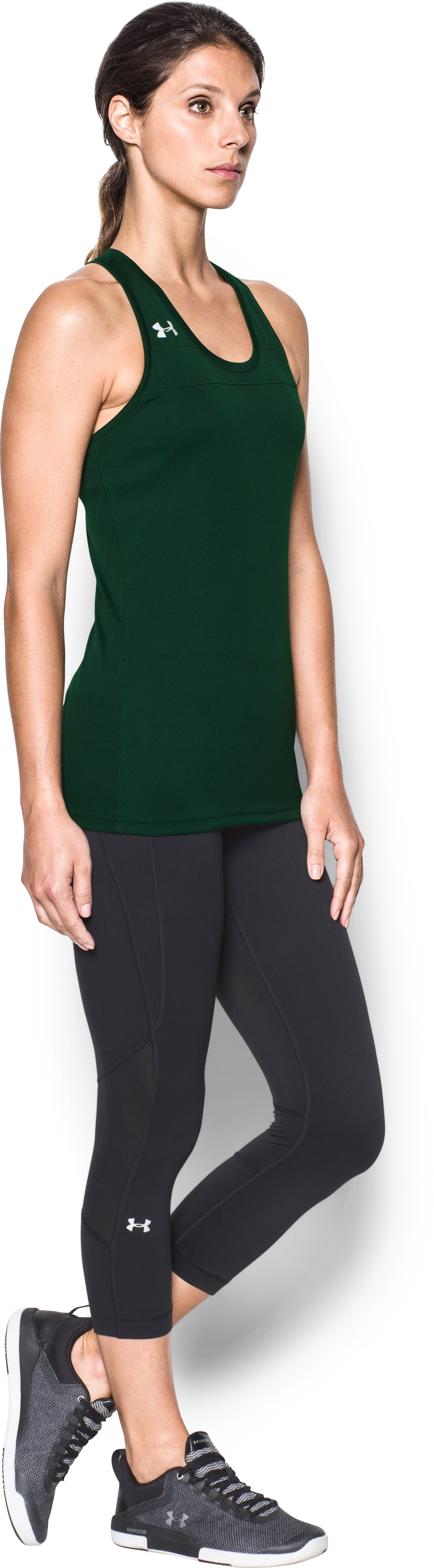 Women's UA Matchup Tank, Forest Green, undefined