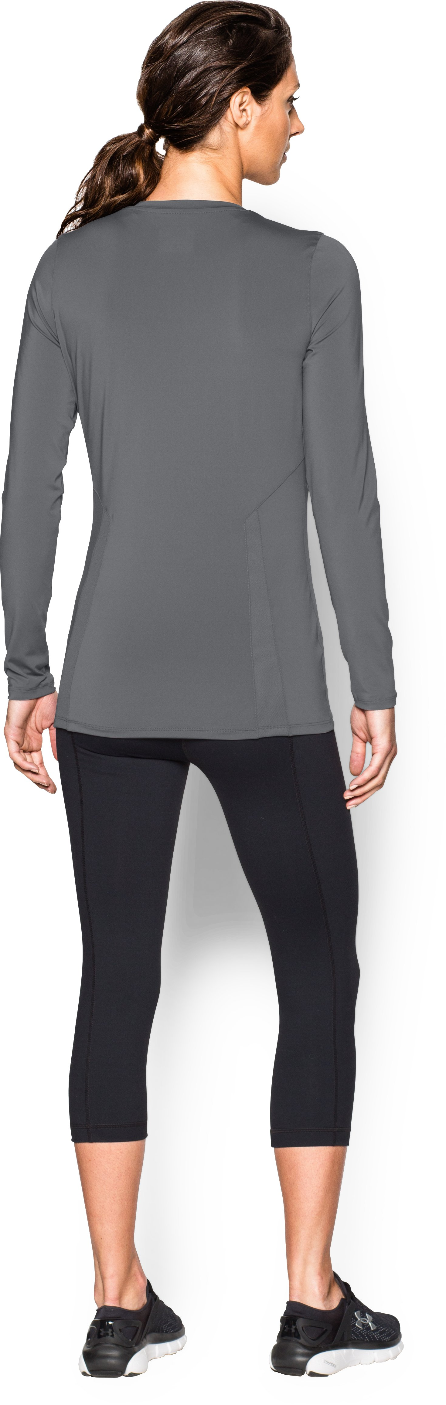 Women's UA Power Alley Long Sleeve Jersey, Graphite, Back