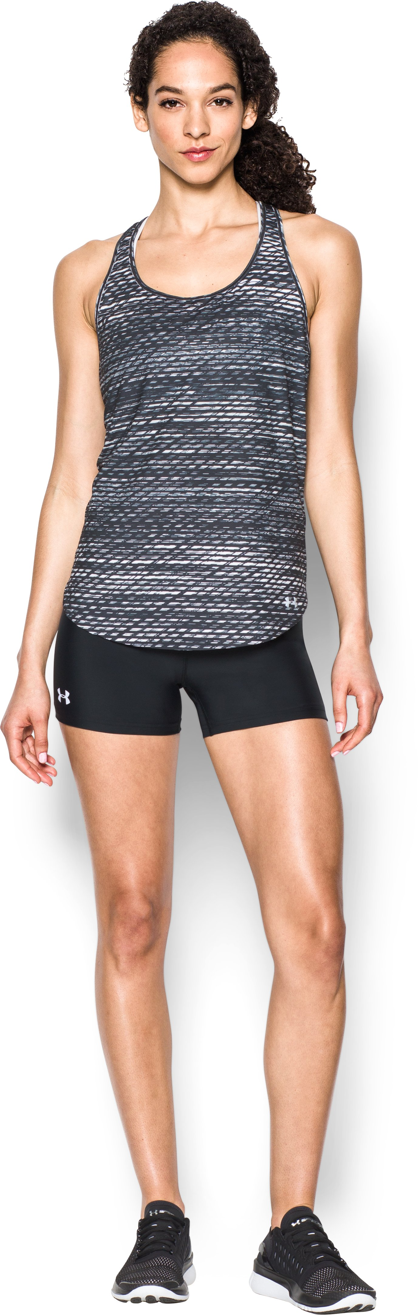 "Women's UA On The Court 4"" Short, Black , Front"