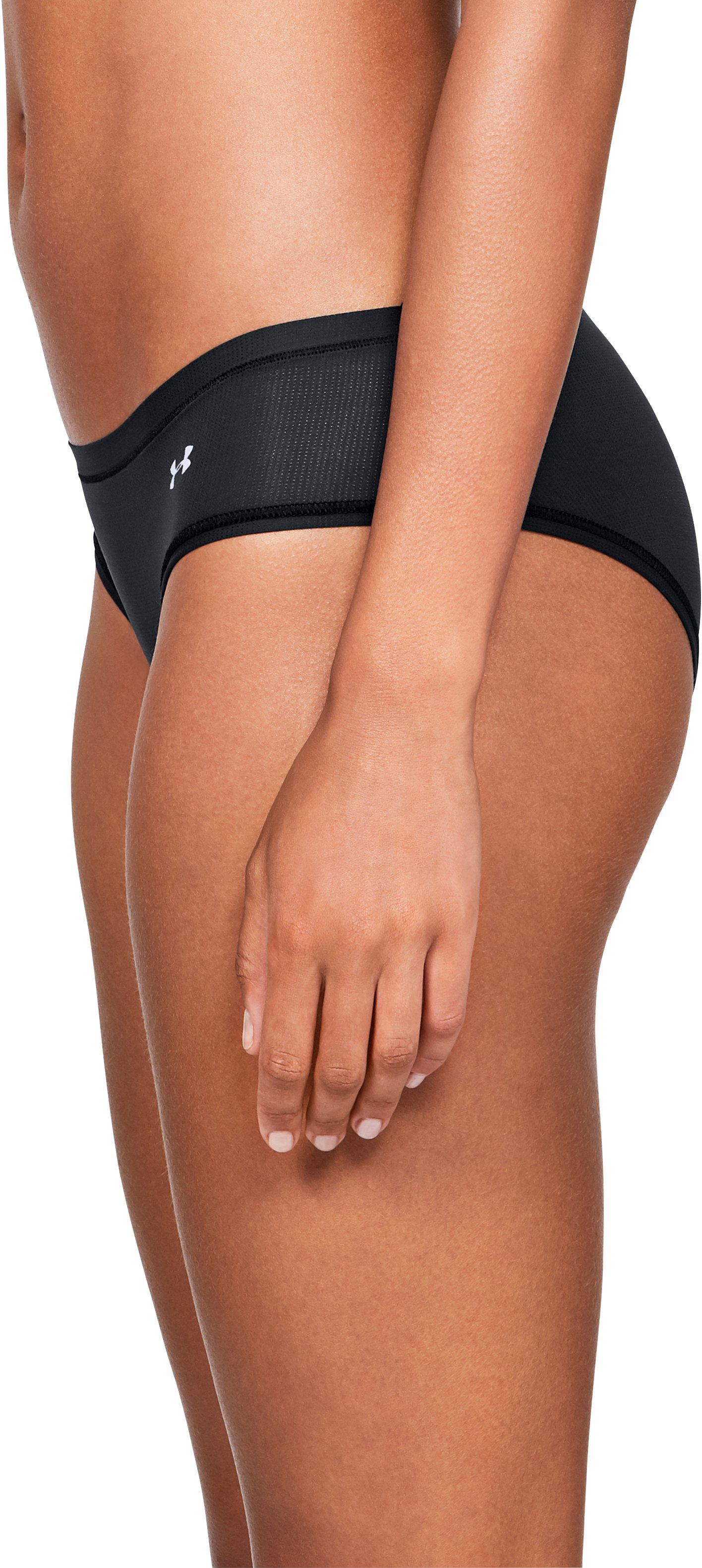 Women's UA Pure Stretch Sheer Hipster, Black ,
