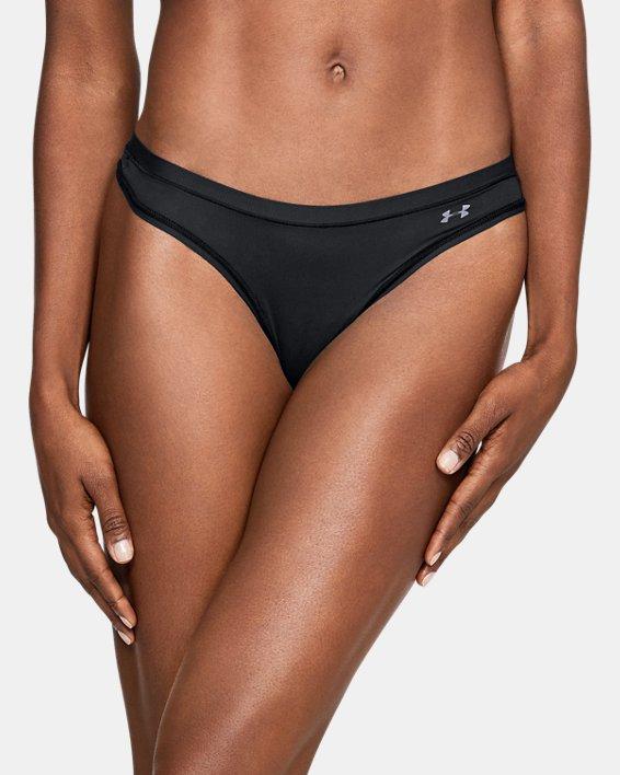 Women's UA Pure Stretch Thong, Black, pdpMainDesktop image number 2