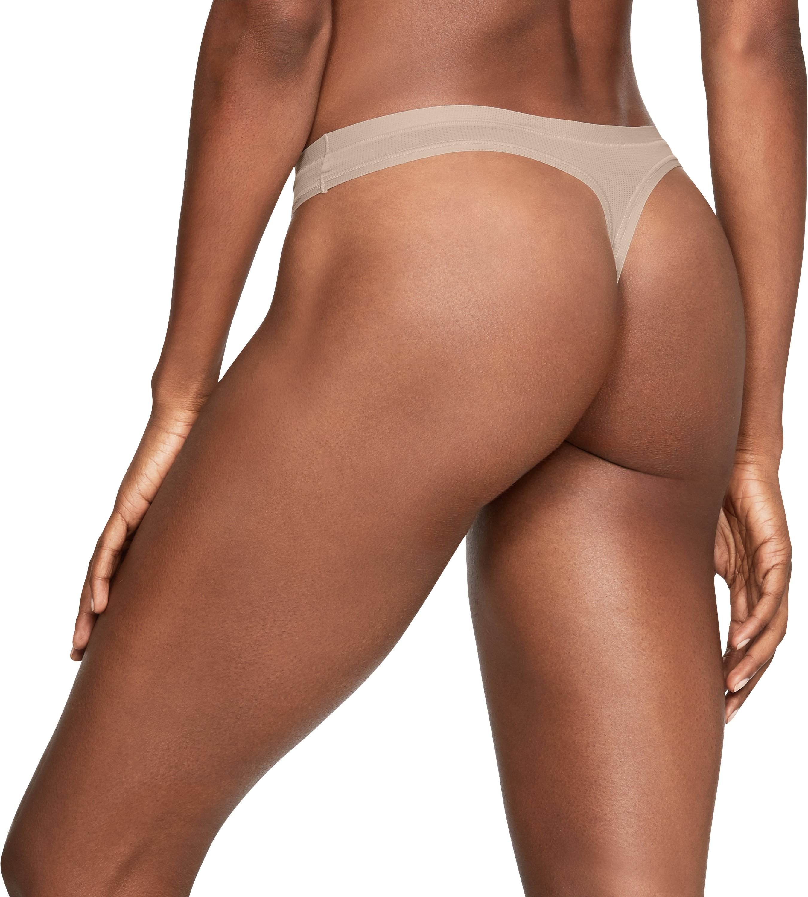 Women's UA Power In Pink® Pure Stretch Thong, Nude