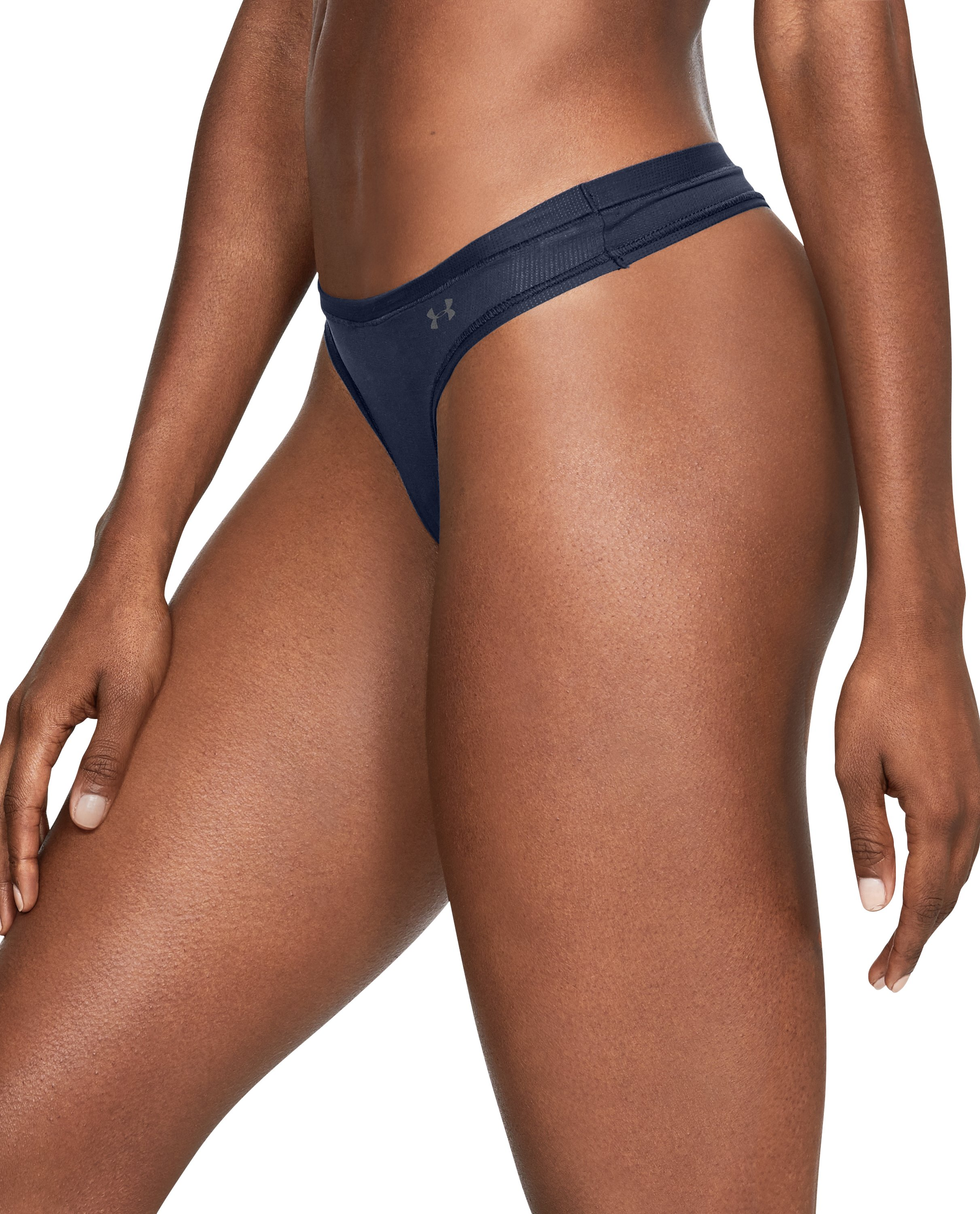 Women's UA Power In Pink® Pure Stretch Thong, Midnight Navy, undefined