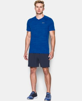 New Arrival Men's UA Streaker Run V-Neck T-Shirt LIMITED TIME: FREE SHIPPING  $34.99