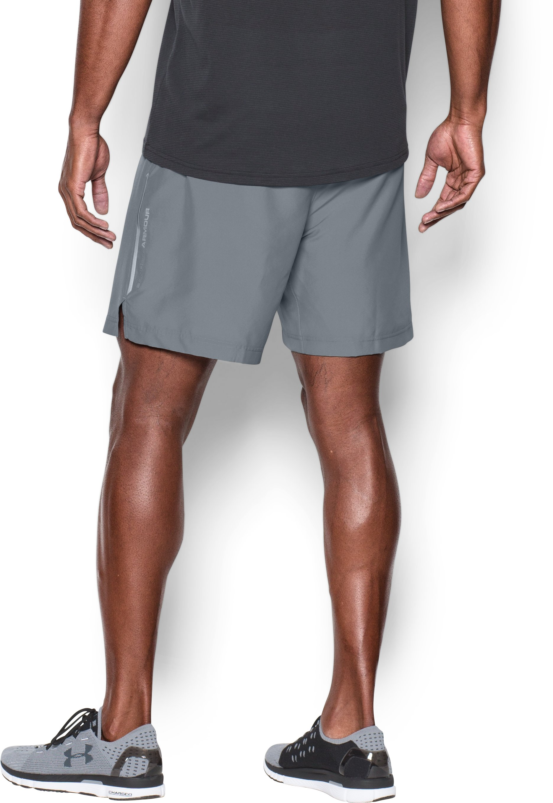 Men's UA CoolSwitch Run 2-in-1 Shorts, Steel, undefined