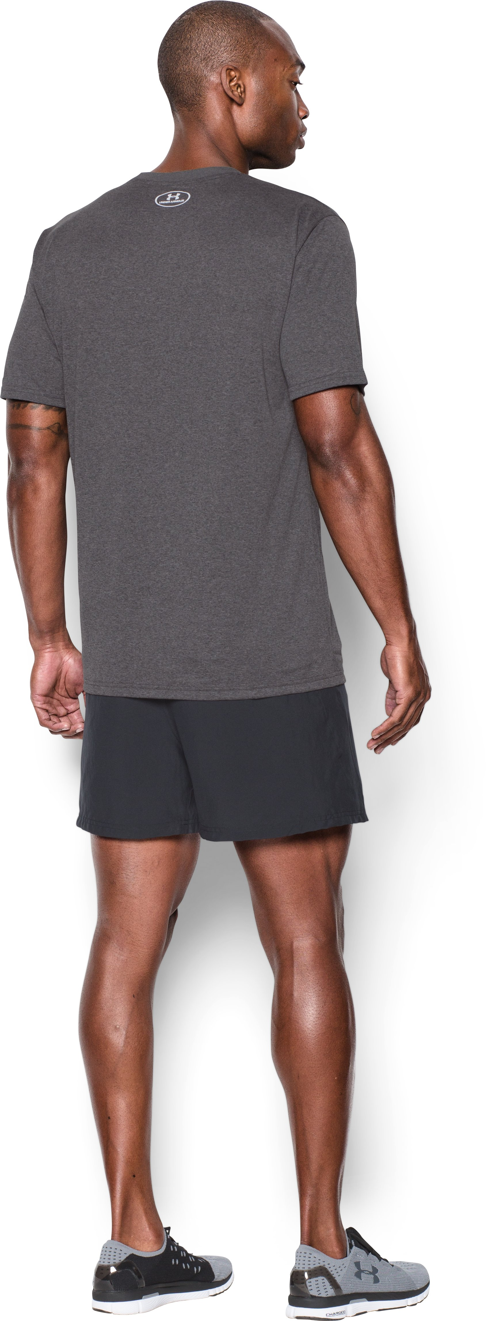 Men's UA Runstoppable T-Shirt, Carbon Heather, Back
