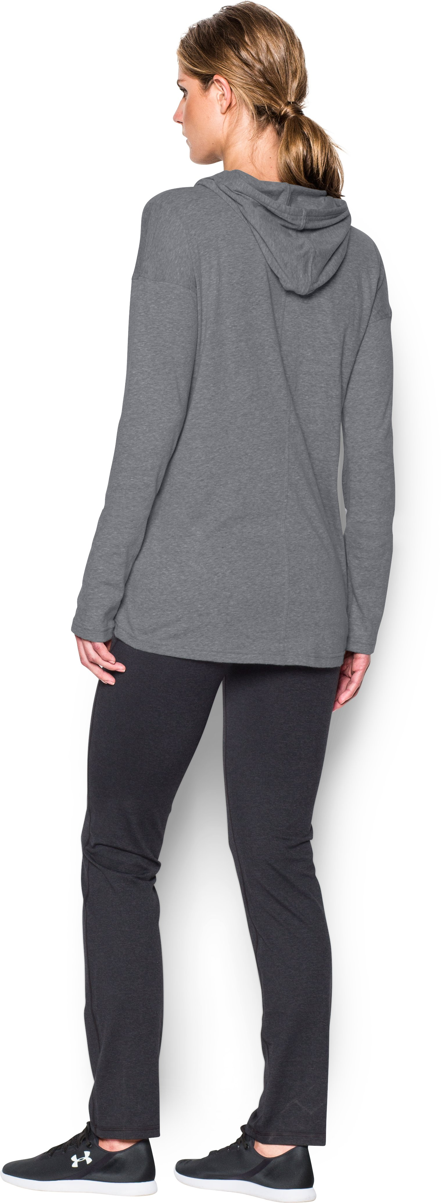 Women's UA Stadium Hoodie, Graphite, Back