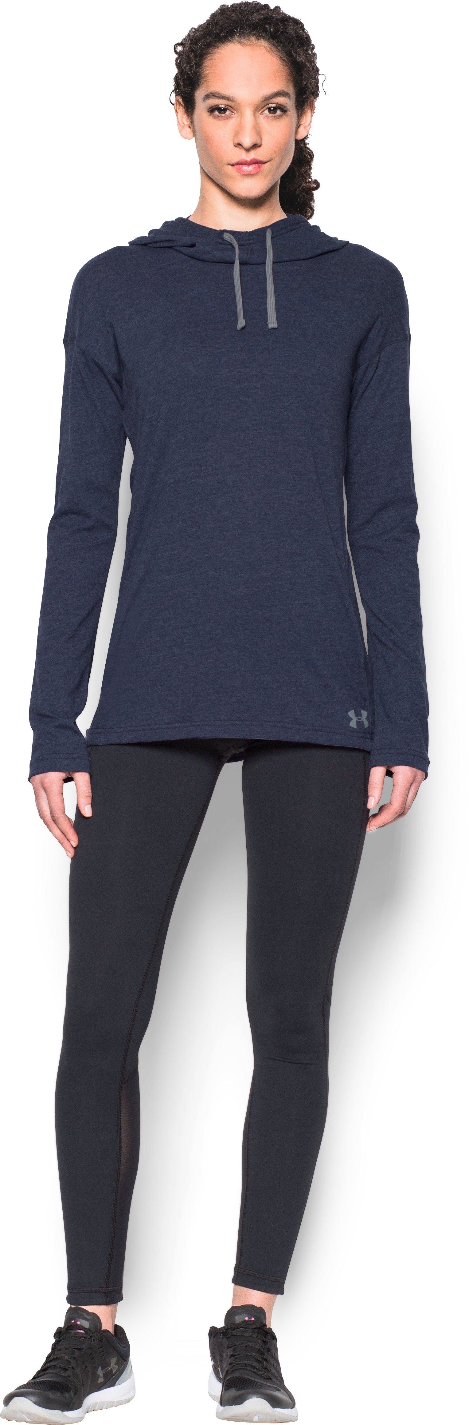 Women's UA Stadium Hoodie, Midnight Navy, Front