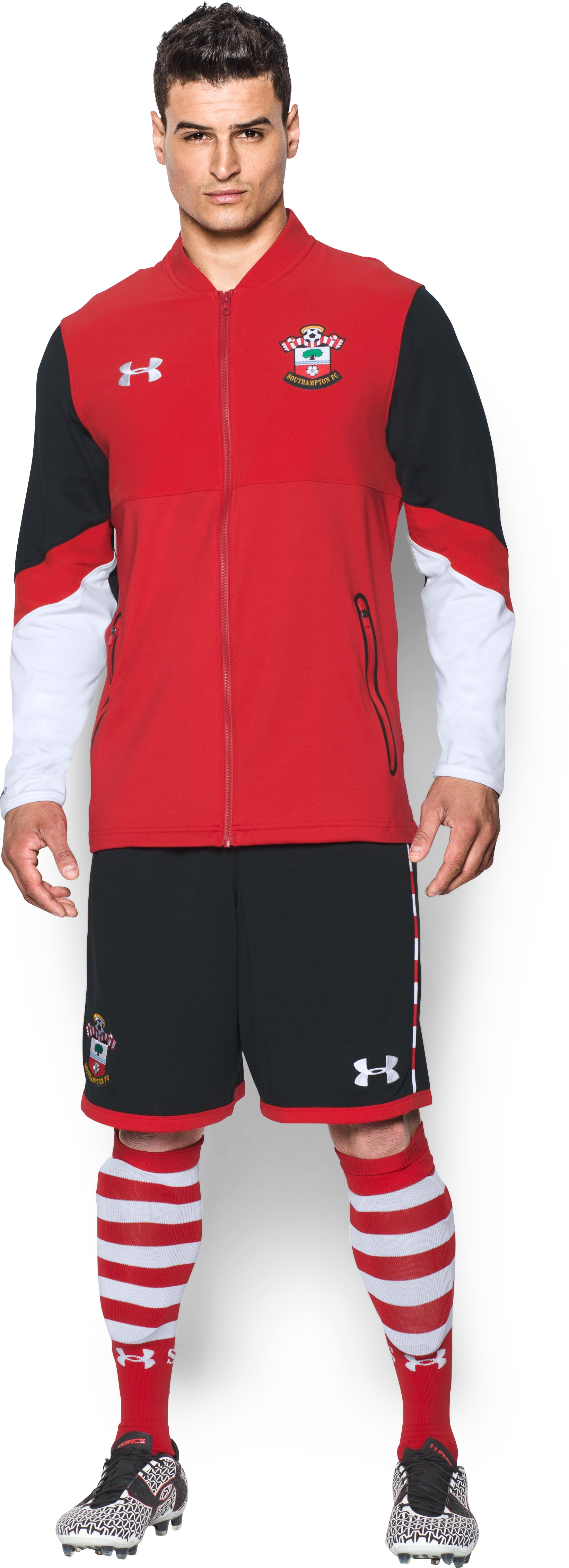 Men's Southampton UA Storm Stadium Jacket, Red, Front