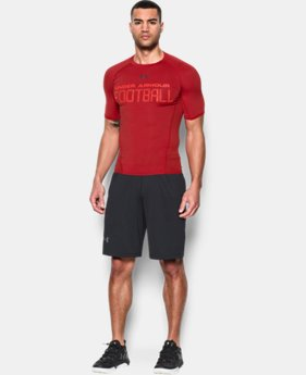 Men's UA Football Armour® Short Sleeve Compression Shirt  1 Color $34.99