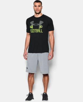 New Arrival Men's UA Football Icon T-Shirt LIMITED TIME: FREE SHIPPING 2 Colors $27.99