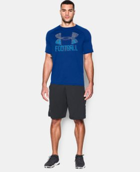 New Arrival Men's UA Football Icon T-Shirt  4 Colors $32.99