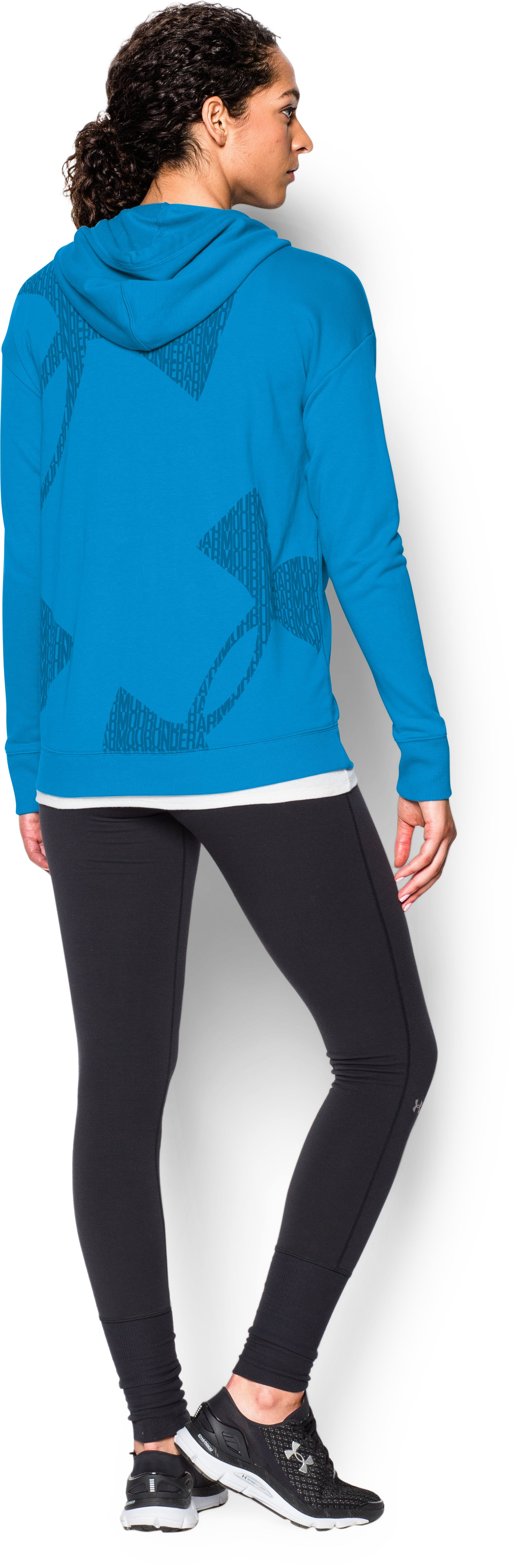 Women's UA Favorite French Terry Full-Zip, ELECTRIC BLUE, Back