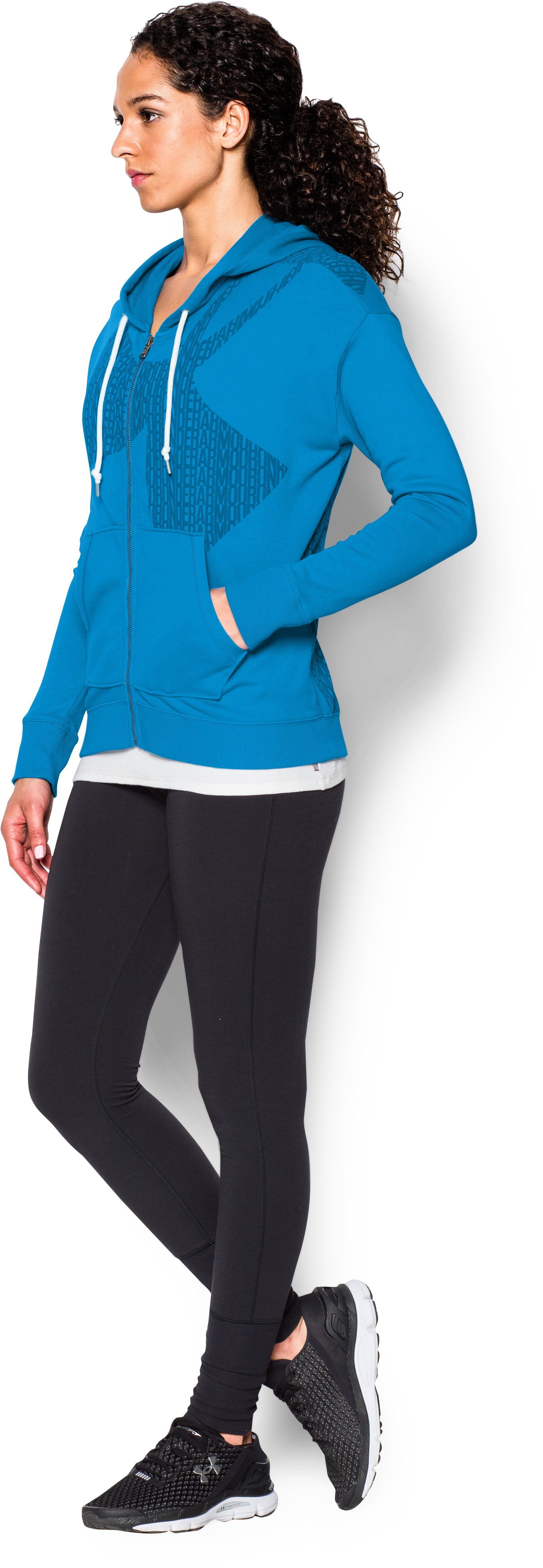 Women's UA Favorite French Terry Full-Zip, ELECTRIC BLUE