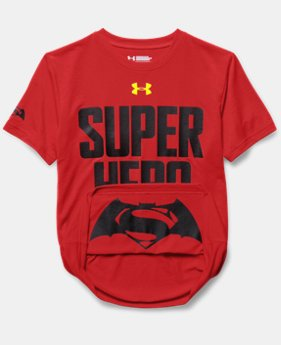 New Arrival  Boys' Under Armour® Alter Ego Superman/Batman Reversible T-Shirt   $34.99